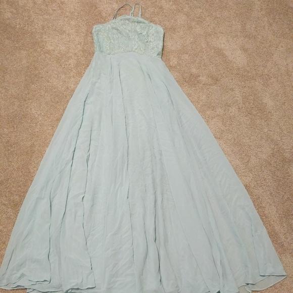Lulu\'s Dresses | Lulus Bnwt Seafoam Green Gown Lace Bodice Medium ...